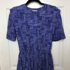 Periwinkle Leslie Fay dress